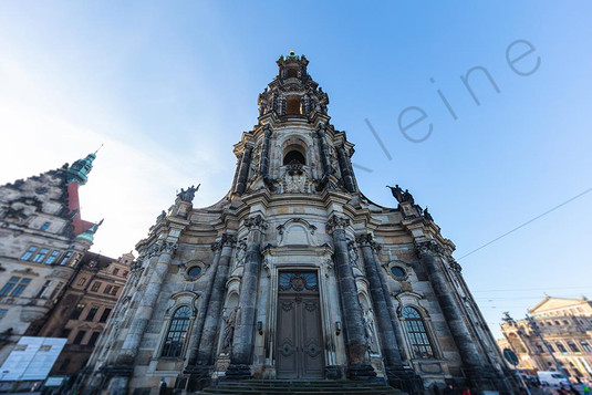 The central church in the old town of Dresden.