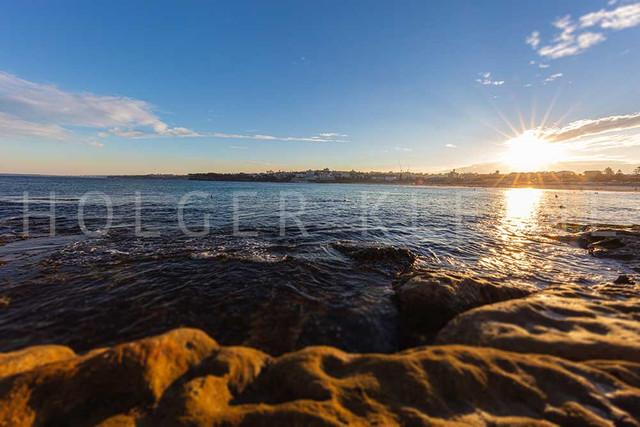 Sunset over the pacific ocean at Bondi Beach, Australia