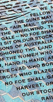 Microtext on the Australian 10 dollar