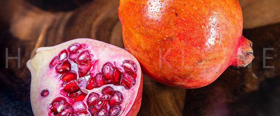 Close up on a pomegranate