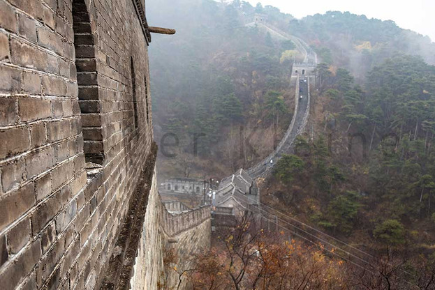 The Great Wall of China, the majestic large landmark of China