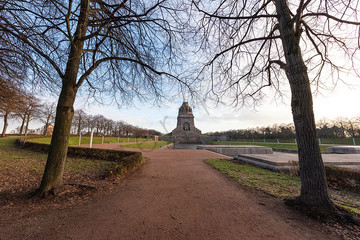 Monument of the battle of nations at the city of Leipzig, Germany.