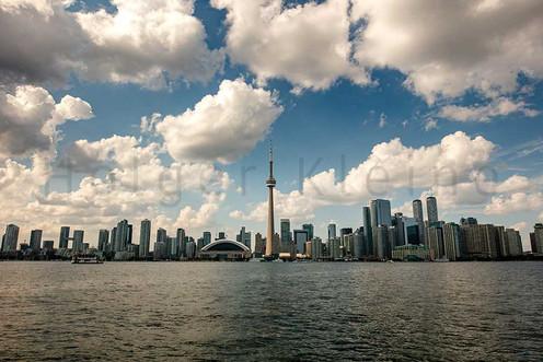 The skyline of Toronto