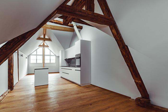 Wohnunge Altstadt Aarau, Dachwohnung Küche