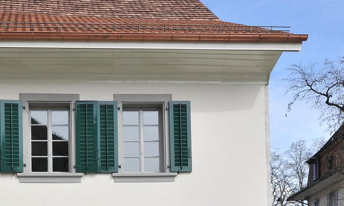 Restaurierung Fassade und Dach. Kurthaus aarburg. Epprechtarchitekten AG. Aarburg, Aargau.