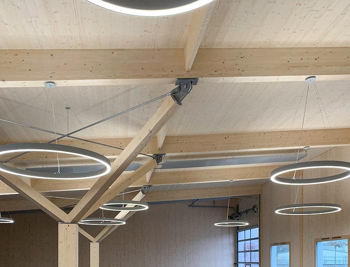 Baumschule Haller AG Holzelementbau mit Leuchtringen, Verkaufspavillon, EpprechtArchitekten AG