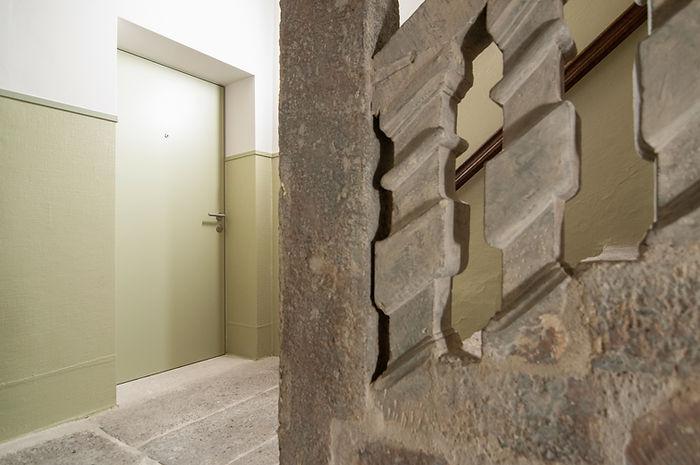 Treppenaus historisch restauriert, saniert. Rupfen Farbkonzept. EpprechtArchitekten AG Aarau