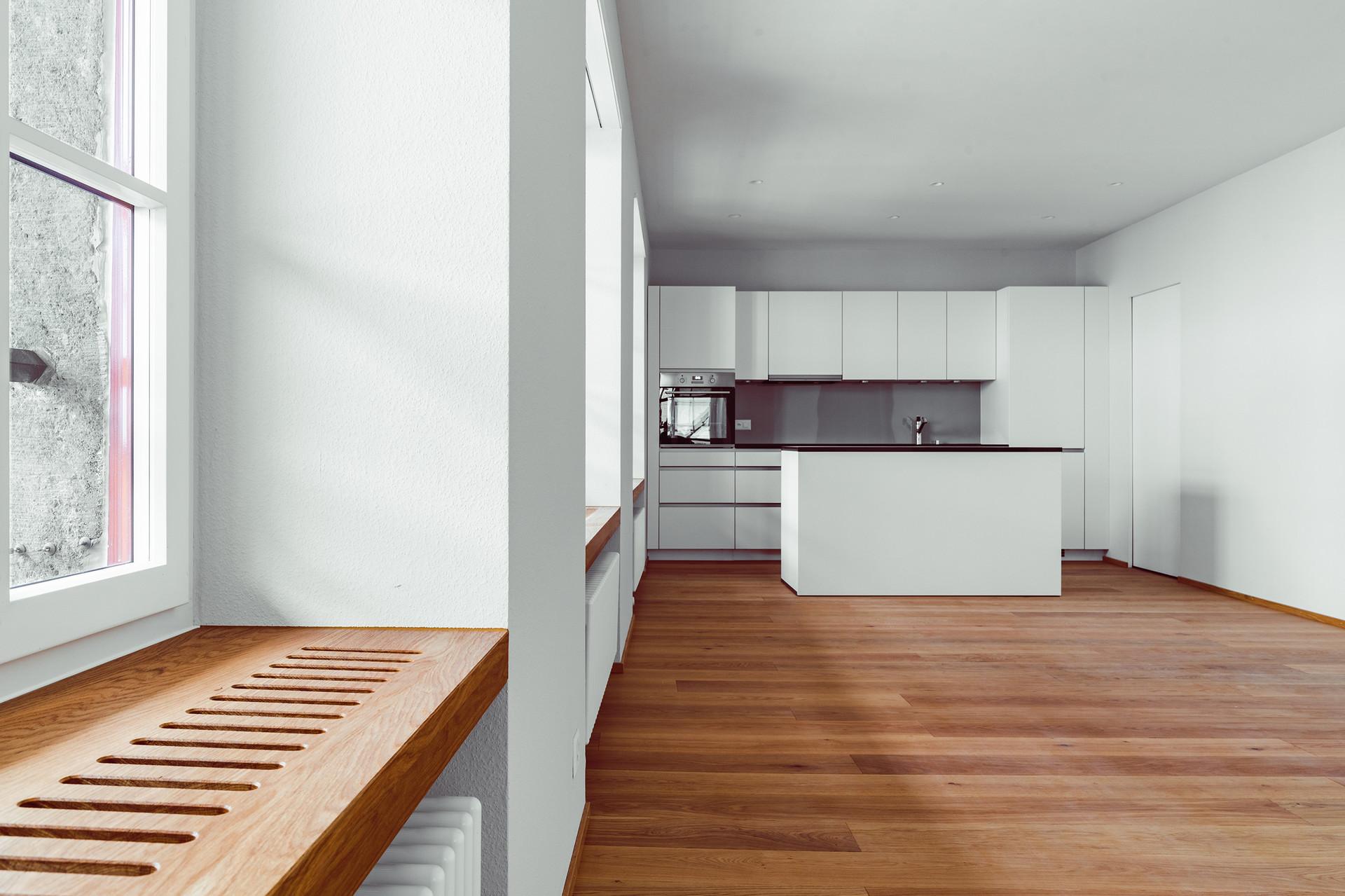 Wohnunge Altstadt Aarau, Küche und Wohnbereich