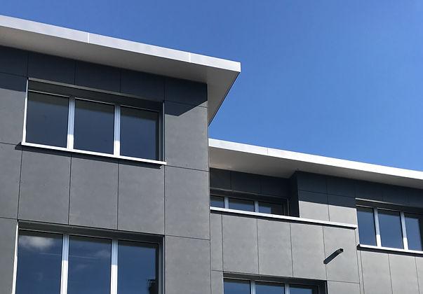 Holzelementbau. Eternitfassade. Minergie P. EpprechtArchitekten AG Aarburg. Epprecht Architekt. Architekturbüro Aarburg und Olten.