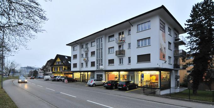 Farbkonzept Fassade, Cafe, Conditorei, Mehrfamilienhaus, Aarburg 2014