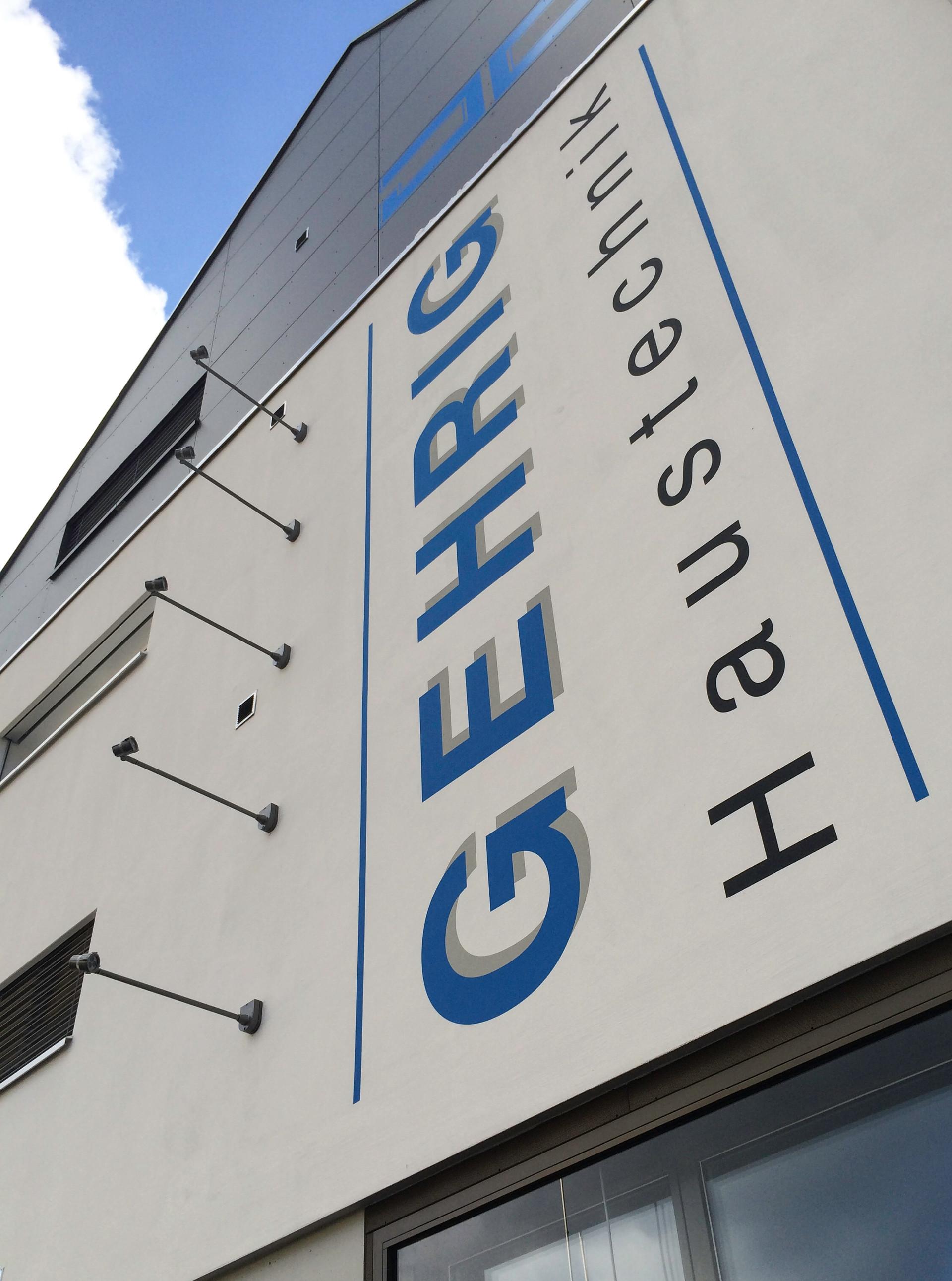 Fassadenbeschriftung Gehrig Haustechnik, Aarburg 2012