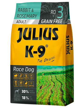 Julius-K9 City Dog rabbit and rosemary grain-free dogfood for adultar