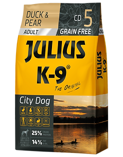 Julius-K9 City Dog Duck & Pear grain-free dogfood for puppies