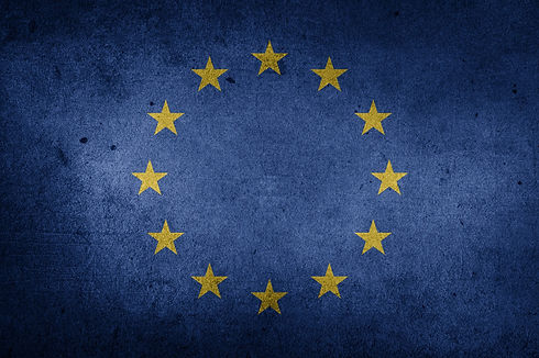 European union flag and stars