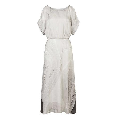 Misty Marbled Dress in Grey
