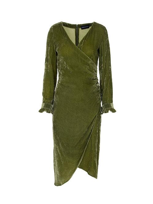 Velvet Wrap Around Dress