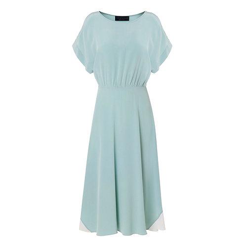 Silk Panel Cut-Out Dress