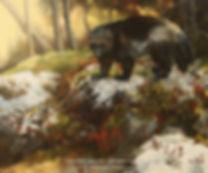 Gulo Gulo, le carcajou, huile sur toile – Tous droits réservés © Monique Benoit