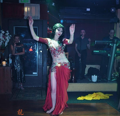 Amira Jade Bellydance performance with MB Orchestra at Harissa
