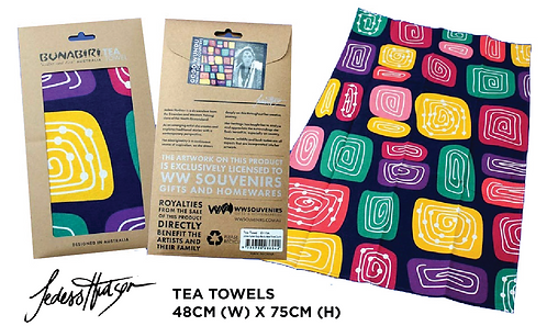 TEA TOWELS - Gogo Wundu (Water Forest Country)