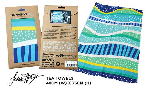 TEA TOWELS - Rainbow Reef (Gudhu Godjara)