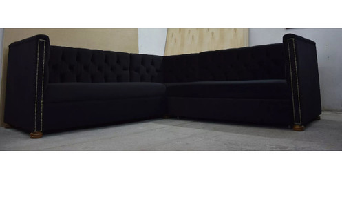 Chesterfield High Back Corner Sofa Bed