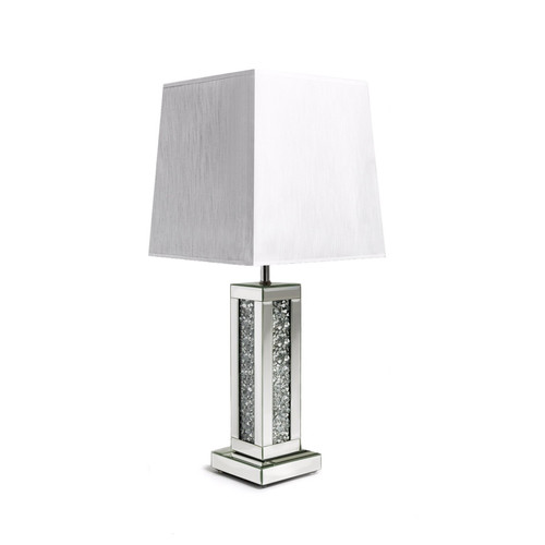 Mirrored glass floating crystal diamond crush table lamp for sale uk diamond crushed mirror table lamp aloadofball