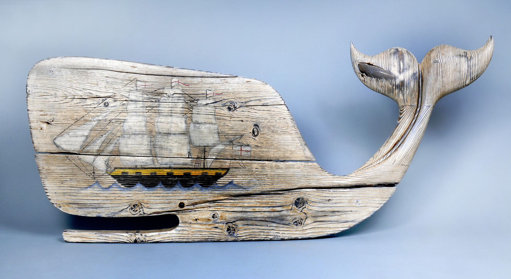 Whale and Whaler, ( wall mount )