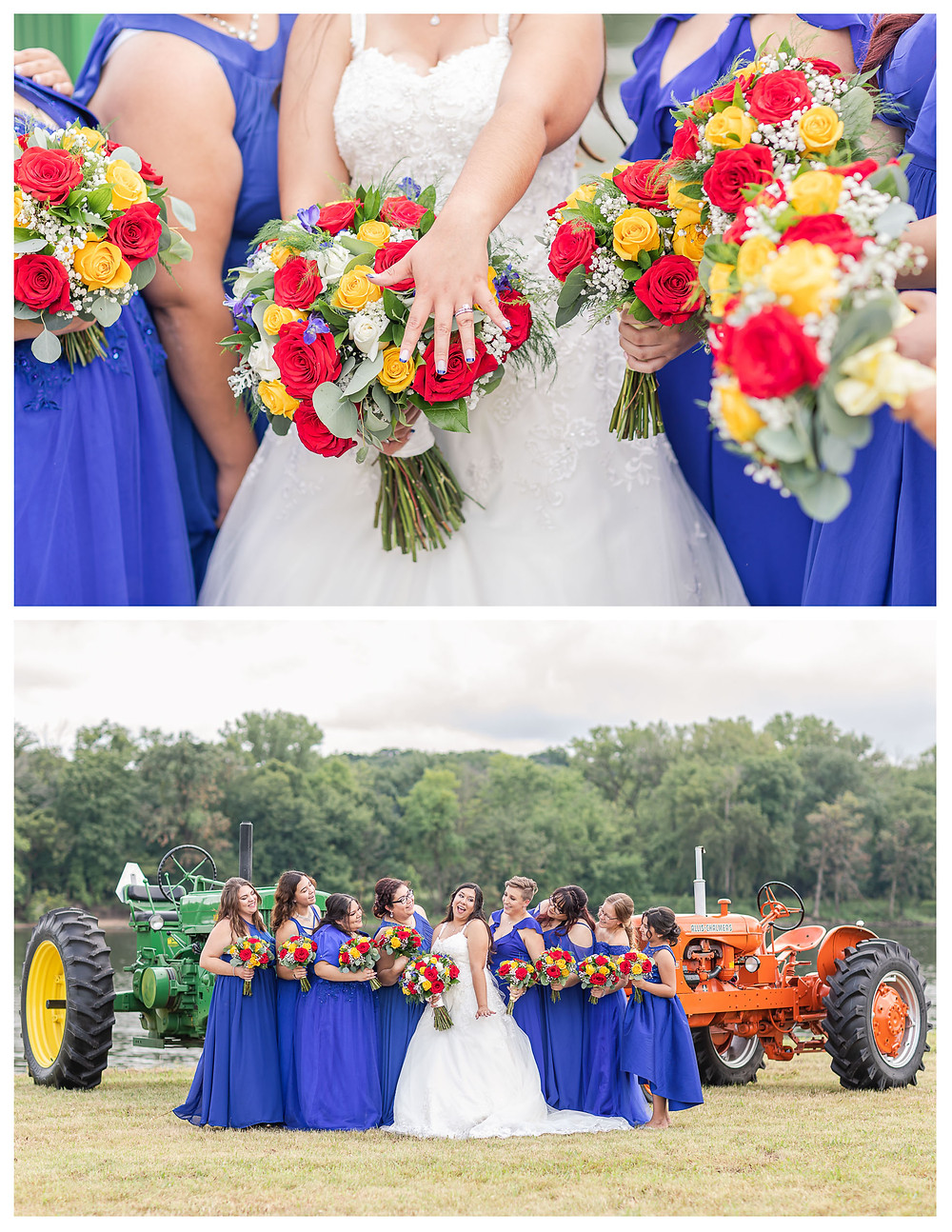 Rustic Beauty and the Beast Inspired Wedding in Ottawa, IL wedding photographer joliet wedding photographer chicago wedding photographer wedding pictures farmstyle farmhouse farmhouse decor belle red and blue wedding inspo illinois wedding photographer illinois river pictures adventures things to do in illinois red rose ruby rose teal  r2d2 star wars fun tractors john deree deere pug dog pug life chevrolette classic car