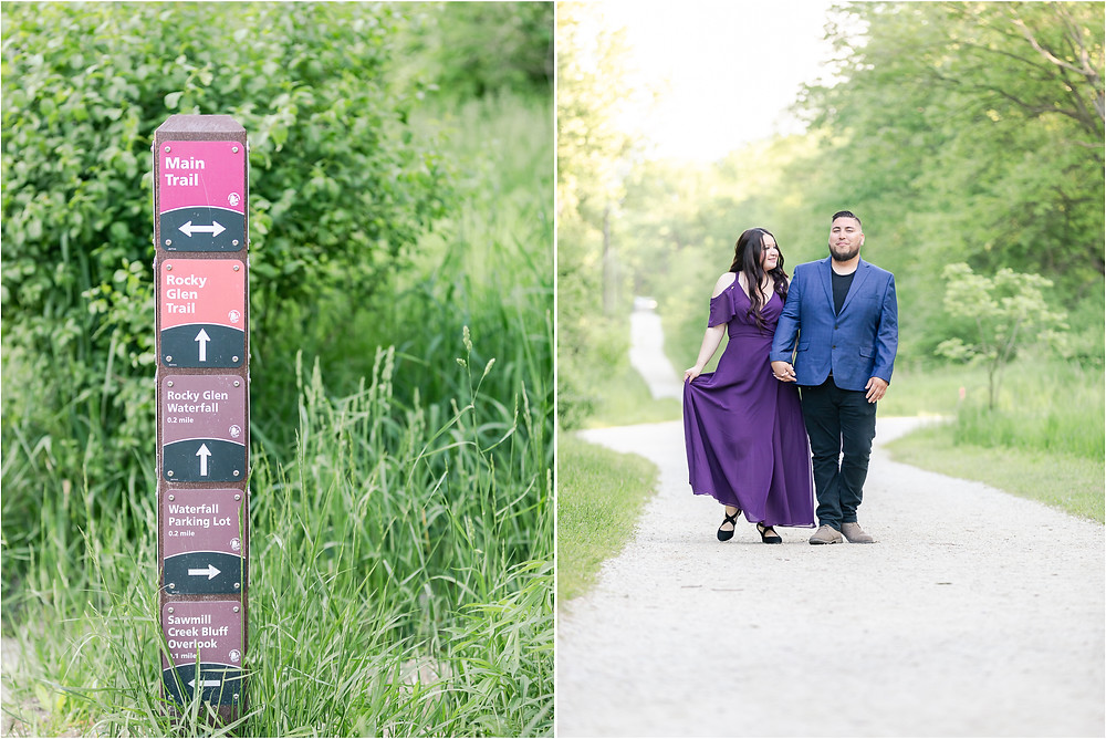 Waterfall Glen engagement session lemont photographer