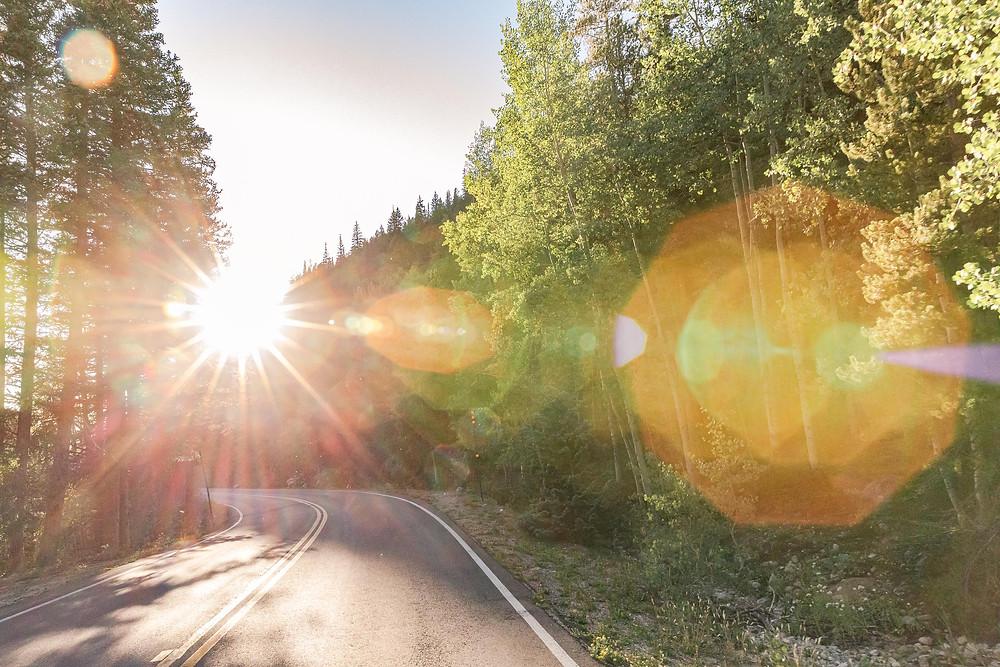 Maroom bells road trip aspen denver colorado bison vintage coca cola lens flare sunset sunrise mountains rav4 toyota porsche