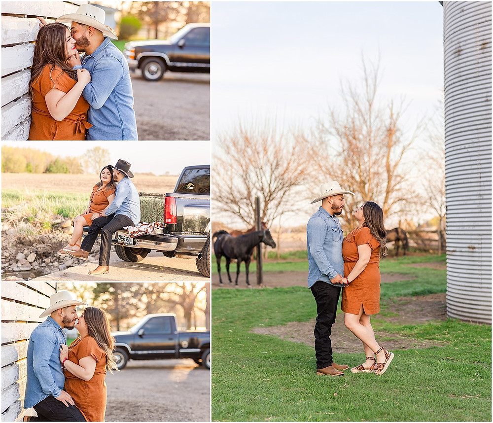 Engagment Session Farmstyle Ranch Wedding Photographer Engagement Photos