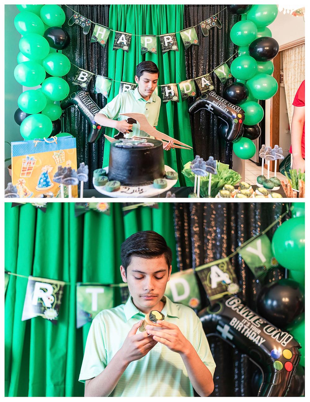 Halo Theme Birthday Party 15 birthday joliet photographer
