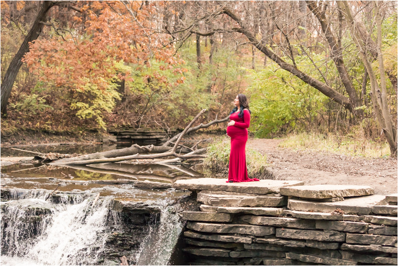Waterfall Glen Maternity Photoshoot Maternity photographer Lemont IL