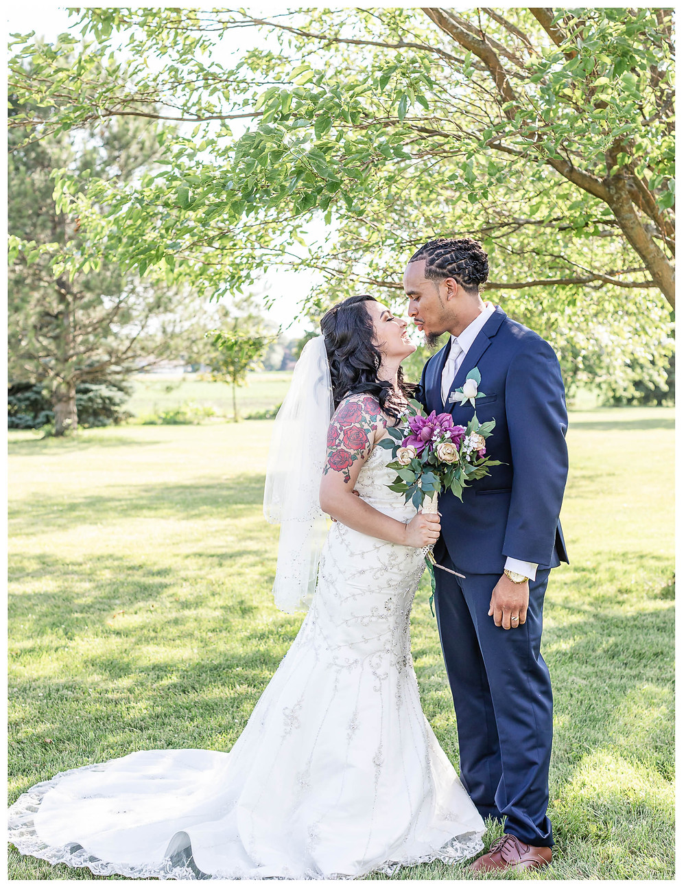 Joliet wedding photographer summer weddings burgandy gold and navy