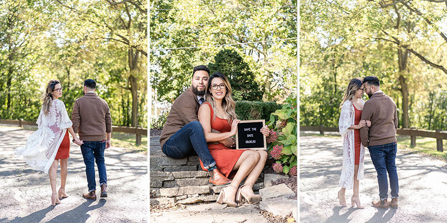 dellwood park lockport engagement session engagement photographer near me wedding photographers near me fall engagement sessions
