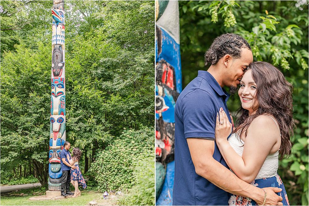 Pilcher Park Engagement Pictures Joliet IL engagement photographer Joliet photographer