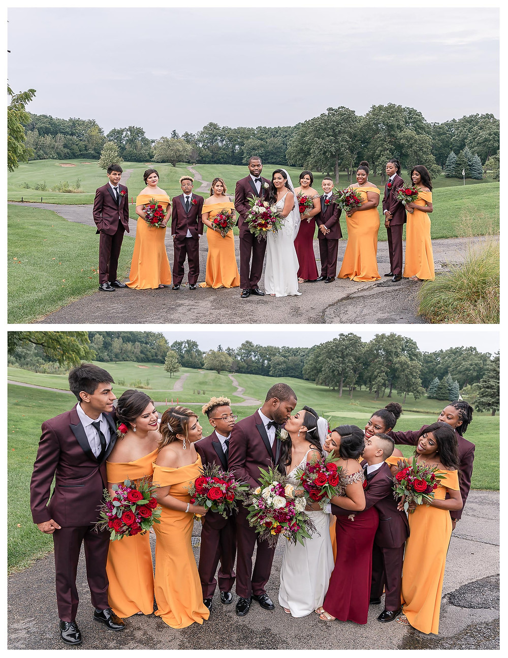 edgewood resort and spa wedding fall wedding itasca wedding photographer illinois wedding photographer joliet wedding photographer fall colors fall weddings
