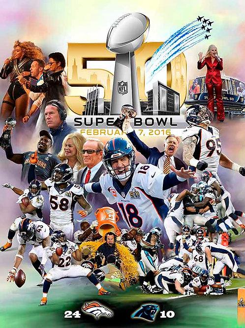 Denver Broncos-Super Bowl - 50 B-2979