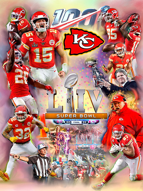 B-4742 Kansas City Chiefs-SuperBowl LIV