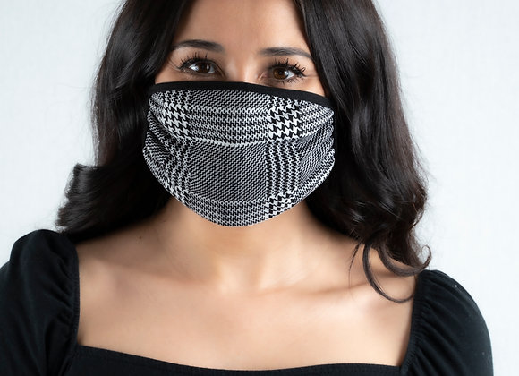 Houndstooth Reversible Face Mask
