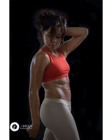 Dramatic Lighting Fitness Model