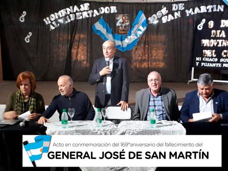 Acto en conmemoración del 169° aniversario del fallecimiento del General José de San Martín.