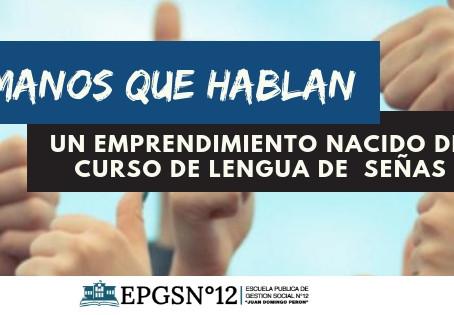 Miguel Ángel Benjamín, inició su proyecto unipersonal como intérprete en lengua de señas.