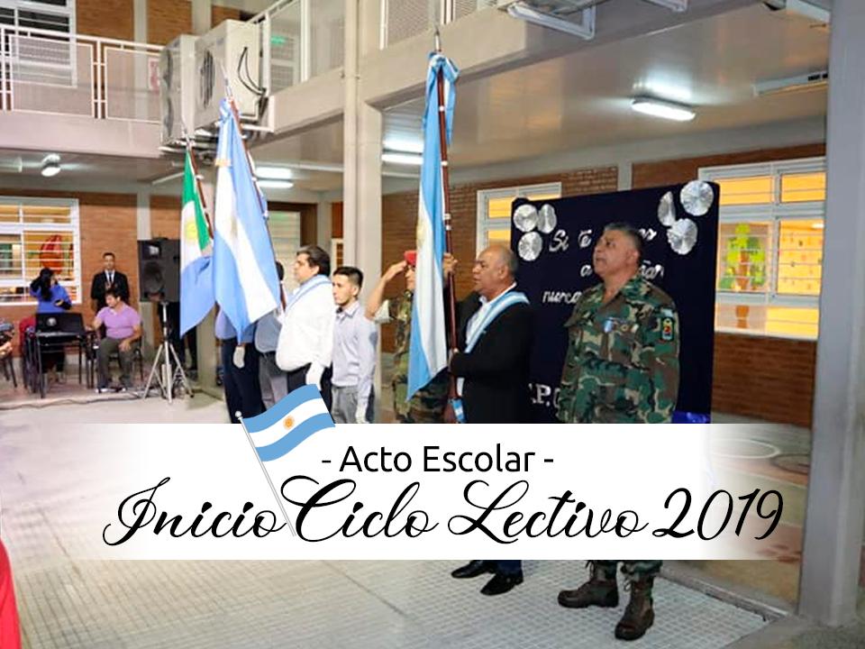 ACTO ESCOLAR | INICIO CICLO LECTIVO 2019