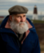 New England Man with Lighthouse