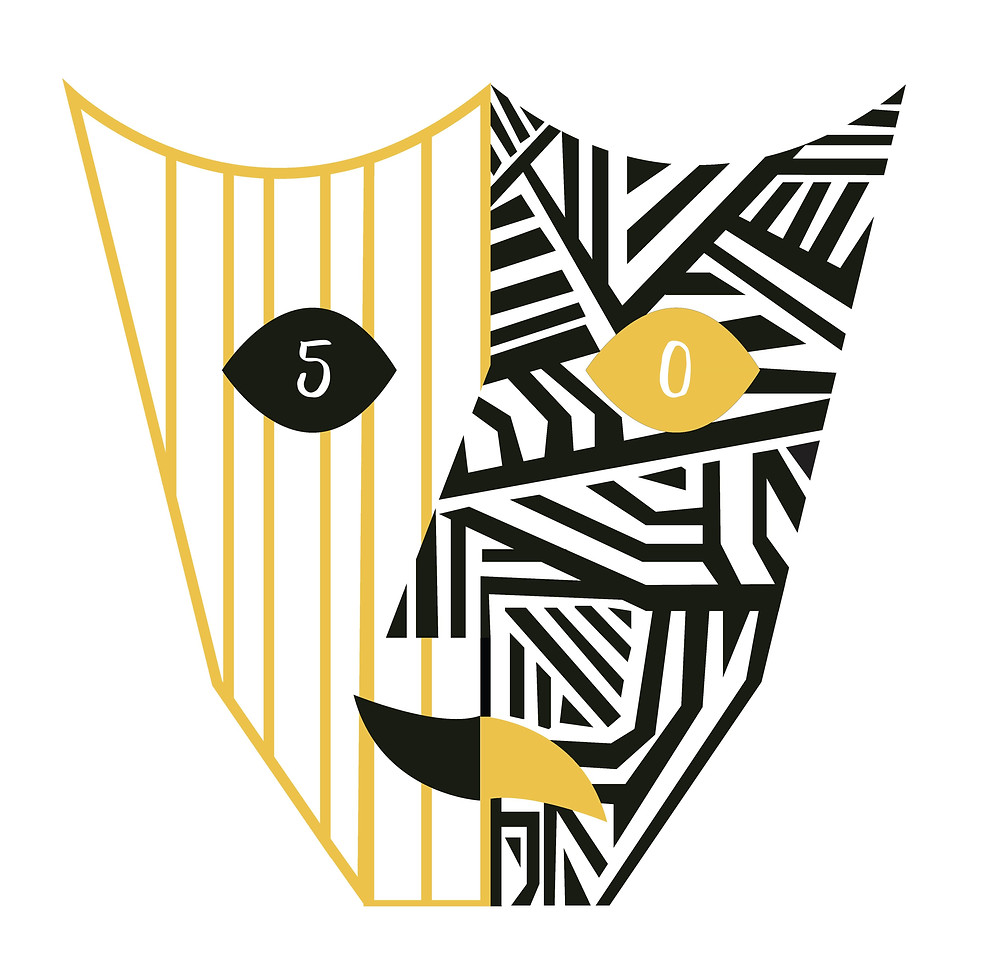 50th anniversary logo designed by Frances Addison