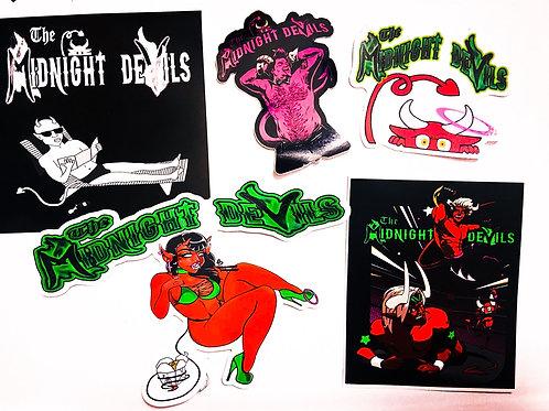 The Midnight Devils Sticker Set - 5 stickers