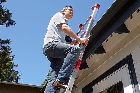 Adam Kispert, roof inspection