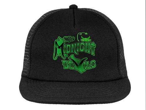 Black w/ Green Logo Mesh Snapback Trucker Hat
